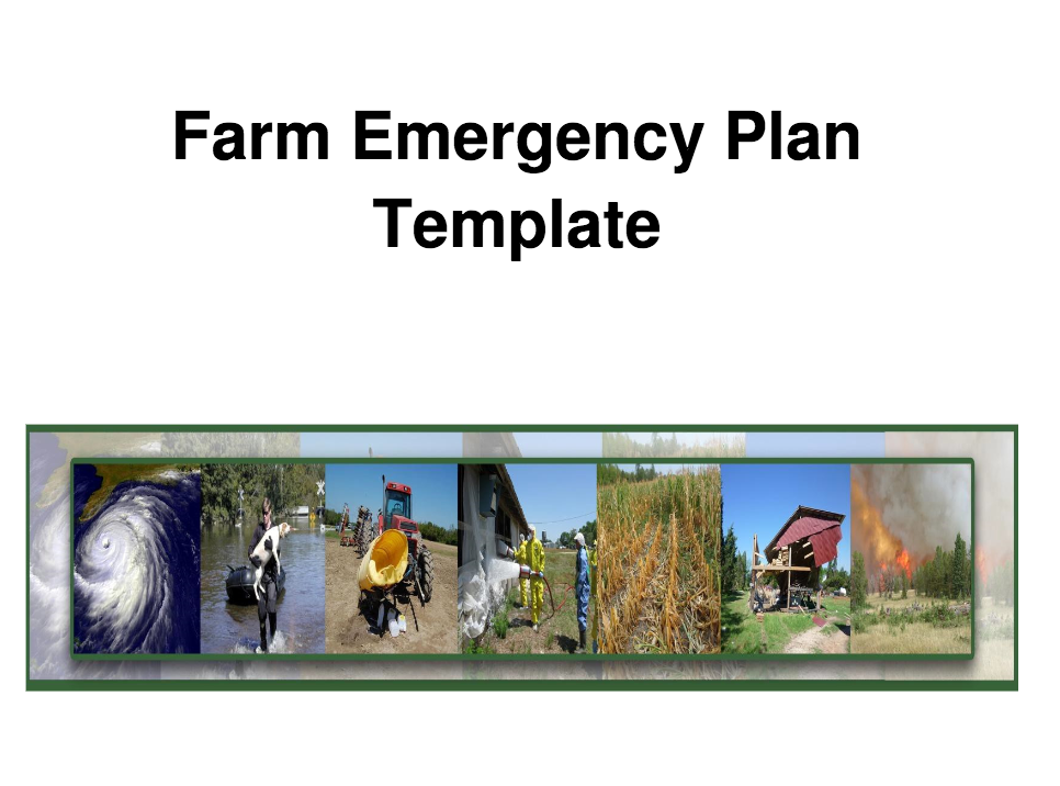 farm emergency plan template nc state extension